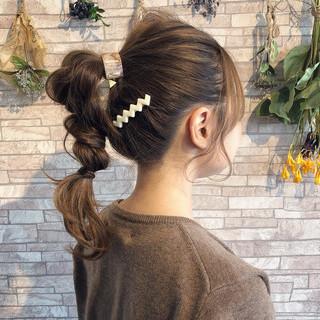 マジェステ ヘアアレンジ 簡単ヘアアレンジ ガーリー ヘアスタイルや髪型の写真・画像