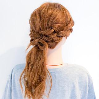 ヘアアレンジ 簡単ヘアアレンジ ロング エレガント ヘアスタイルや髪型の写真・画像