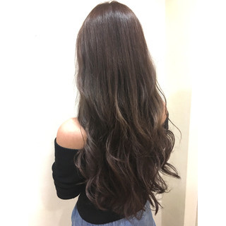 ストリート ロング 大人かわいい 暗髪 ヘアスタイルや髪型の写真・画像