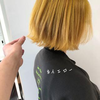 ロング ミニボブ 切りっぱなしボブ ナチュラル ヘアスタイルや髪型の写真・画像
