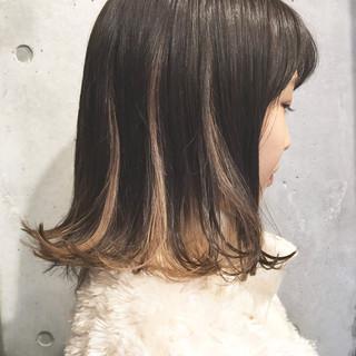 ハイライト ボブ ハイトーン カール ヘアスタイルや髪型の写真・画像