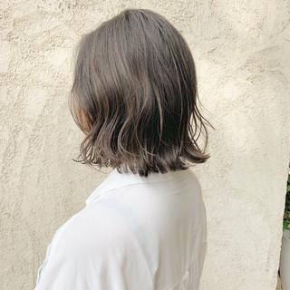 3Dハイライト ナチュラル グレージュ ハイライト ヘアスタイルや髪型の写真・画像