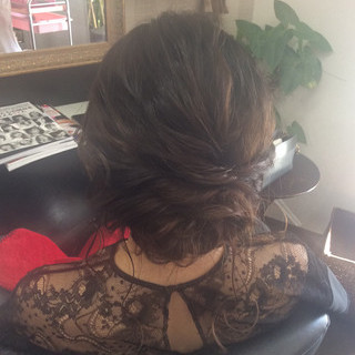 ヘアアレンジ 結婚式ヘアアレンジ セミロング エレガント ヘアスタイルや髪型の写真・画像