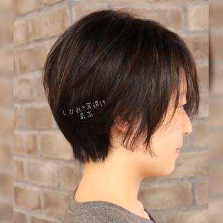 ショート デート ショートボブ 大人かわいい ヘアスタイルや髪型の写真・画像