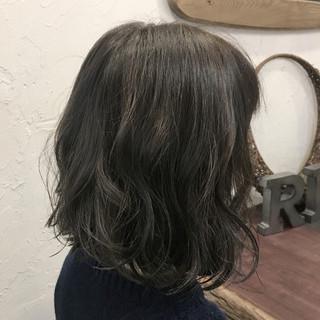ナチュラル ボブ 外国人風カラー グレージュ ヘアスタイルや髪型の写真・画像