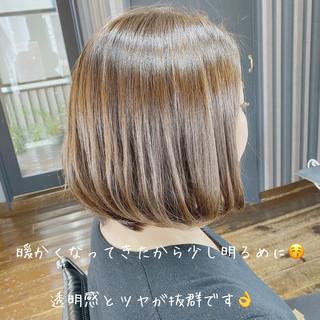 ボブ ボブヘアー モテボブ ナチュラル ヘアスタイルや髪型の写真・画像
