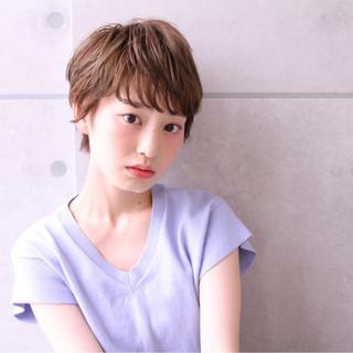ベリーショート ショート ピュア 色気 ヘアスタイルや髪型の写真・画像