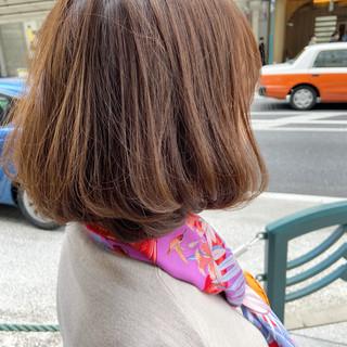 モテボブ 切りっぱなしボブ ボブ まとまるボブ ヘアスタイルや髪型の写真・画像