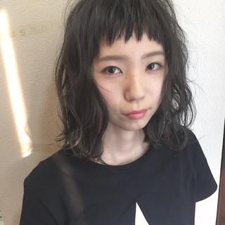 ガーリー ハイライト 外国人風 黒髪 ヘアスタイルや髪型の写真・画像