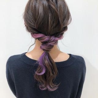 ミディアム 簡単ヘアアレンジ ナチュラル ポニーテール ヘアスタイルや髪型の写真・画像 ヘアスタイルや髪型の写真・画像
