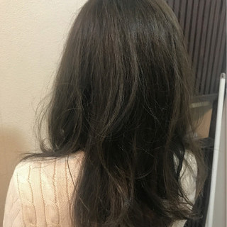 アッシュ グレージュ ニュアンス 外国人風カラー ヘアスタイルや髪型の写真・画像