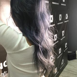 ブリーチ グラデーションカラー ハイライト ロング ヘアスタイルや髪型の写真・画像