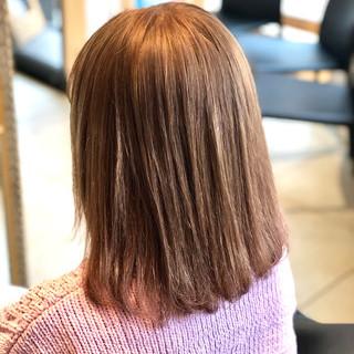 ダブルカラー ブリーチカラー ボブ ストリート ヘアスタイルや髪型の写真・画像
