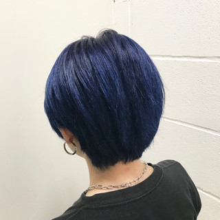 原宿系 暗髪 モード ショート ヘアスタイルや髪型の写真・画像