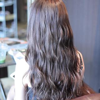 モテ髪 ハイライト 外国人風 暗髪 ヘアスタイルや髪型の写真・画像