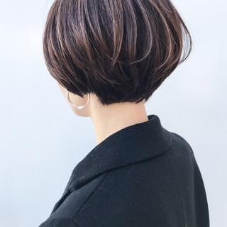 ハイライト ショート ナチュラル 女子力 ヘアスタイルや髪型の写真・画像