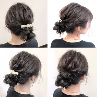 デート フェミニン 結婚式 ロング ヘアスタイルや髪型の写真・画像 ヘアスタイルや髪型の写真・画像