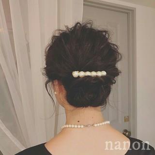 波ウェーブ ボブ 秋 アップスタイル ヘアスタイルや髪型の写真・画像