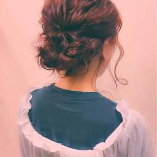 冬 ショート パーティ ミディアム ヘアスタイルや髪型の写真・画像