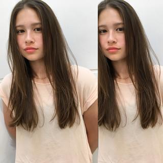 抜け感 外国人風 秋 ストレート ヘアスタイルや髪型の写真・画像