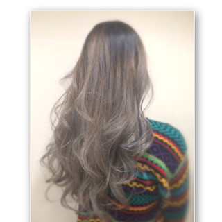 外国人風 ストリート 大人かわいい グラデーションカラー ヘアスタイルや髪型の写真・画像