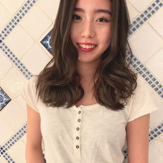 エレガント 外国人風 デート ハイライト ヘアスタイルや髪型の写真・画像
