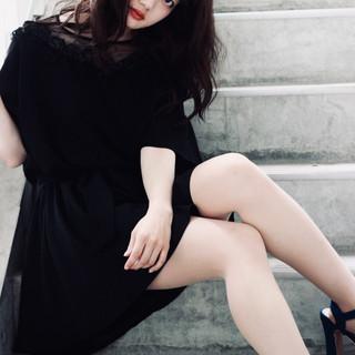 アディクシーカラー フェミニン セミロング ダブルカラー ヘアスタイルや髪型の写真・画像