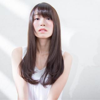 ストレート 巻き髪 抜け感 ロング ヘアスタイルや髪型の写真・画像
