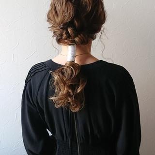 セミロング お呼ばれ りぼん 大人可愛い ヘアスタイルや髪型の写真・画像