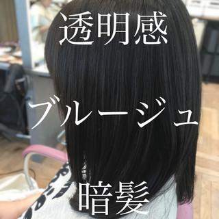 アッシュベージュ ミディアム ブルージュ ナチュラル ヘアスタイルや髪型の写真・画像