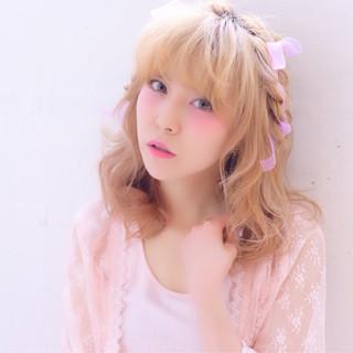 ミディアム ピュア 夏 簡単ヘアアレンジ ヘアスタイルや髪型の写真・画像