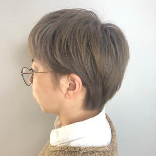 ミルクティーベージュ ベリーショート ショートヘア ショート ヘアスタイルや髪型の写真・画像
