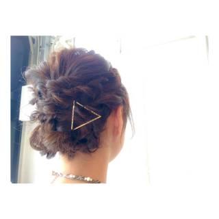 ナチュラル ロープ編み ヘアピン ヘアアクセ ヘアスタイルや髪型の写真・画像 ヘアスタイルや髪型の写真・画像