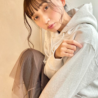 簡単ヘアアレンジ モテ髮シルエット モテ髪 秋冬スタイル ヘアスタイルや髪型の写真・画像