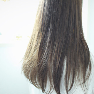 ナチュラル 秋 外国人風 グレージュ ヘアスタイルや髪型の写真・画像