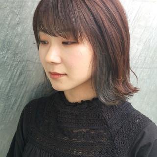 ストリート インナーカラー イルミナカラー 似合わせ ヘアスタイルや髪型の写真・画像