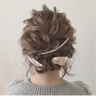結婚式 ナチュラル 大人かわいい ヘアアレンジ ヘアスタイルや髪型の写真・画像 ヘアスタイルや髪型の写真・画像