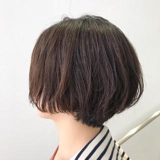 大人可愛い ショートボブ ショート ナチュラル ヘアスタイルや髪型の写真・画像