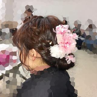 成人式 フェミニン アップスタイル ヘアアレンジ ヘアスタイルや髪型の写真・画像 ヘアスタイルや髪型の写真・画像
