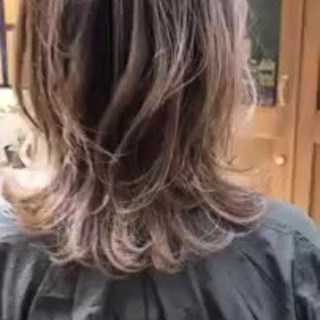 グラデーションカラー モテ髪 ハイライト ゆるふわ ヘアスタイルや髪型の写真・画像