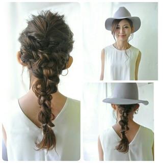簡単ヘアアレンジ ロープ編み ロング ヘアアレンジ ヘアスタイルや髪型の写真・画像 ヘアスタイルや髪型の写真・画像