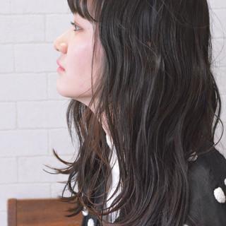 ヘアアレンジ 黒髪 ロング デート ヘアスタイルや髪型の写真・画像