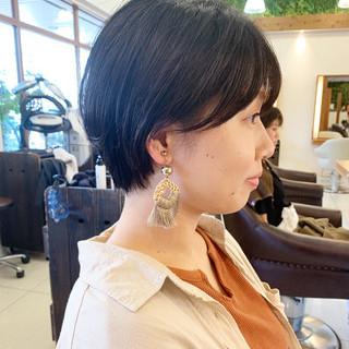 ふんわり  ショートヘア ふんわりショート ヘアスタイルや髪型の写真・画像