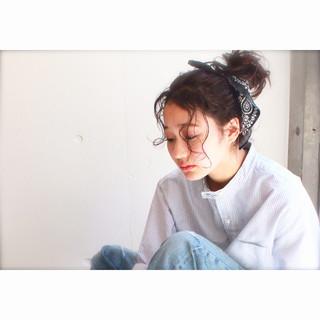ピュア ハーフアップ ヘアアレンジ ミディアム ヘアスタイルや髪型の写真・画像