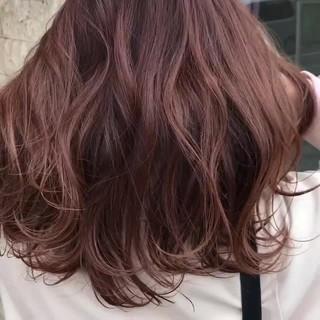 ウェーブ アンニュイ セミロング ラフ ヘアスタイルや髪型の写真・画像