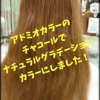 グラデーションカラー グレージュ ストリート セミロング ヘアスタイルや髪型の写真・画像