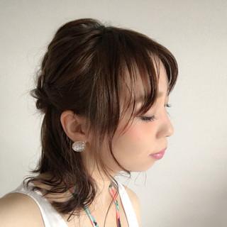 簡単ヘアアレンジ ヘアアレンジ くせ毛風 ショート ヘアスタイルや髪型の写真・画像