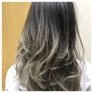 グラデーションカラー フェミニン ミディアム ゆるふわ ヘアスタイルや髪型の写真・画像