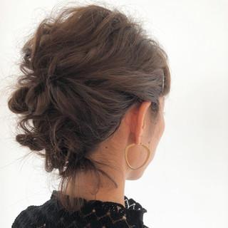 結婚式 フェミニン ボブ デート ヘアスタイルや髪型の写真・画像