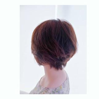 大人かわいい ショート エレガント ボブ ヘアスタイルや髪型の写真・画像